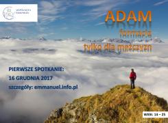 ADAM – formacja tylko dla mężczyzn